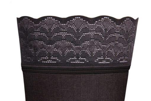 Чулки с ажурной резинкой на силиконовой основе IDEALISTA ID-301TW с закрытым носком полупрозрачные на широкое бедро