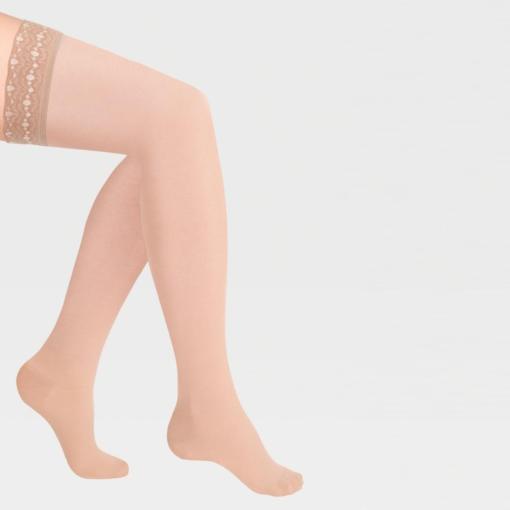 Чулки компрессионные IDEALISTA ID-301T с ажурной резинкой на силиконовой основе с закрытым носком полупрозрачные
