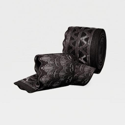 Чулки с ажурной резинкой на силиконовой основе с открытым носком IDEALISTA ID-311