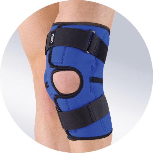 Бандаж на коленный сустав с шарнирными ребрами жесткости ORTO NKN 149