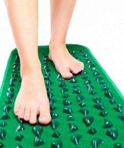 Массажный коврик зеленый с камнями Fosta F 0811