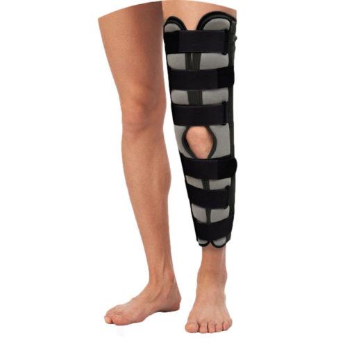 Бандаж для полной фиксации коленного сустава (тутор) Т-8506 60 см