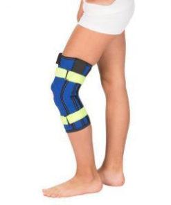 Бандаж детский на коленный сустав с пружинными ребрами жесткости Тривес Т-8530