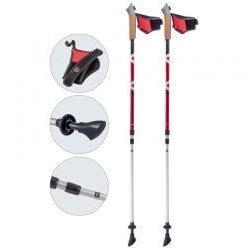 палки для скандинавской ходьбы ECOS Anti-shock Red (B016) арт.999935