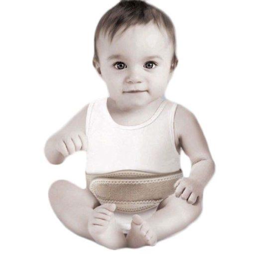 Бандаж грыжевой пупочный для детей , мягкий экологически чистый материал, полужесткий аппликатор, бежевый, TI-620