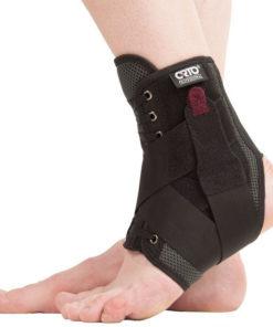 Бандаж с фиксирующими ремнями и шнуровкой на голеностопный сустав BCA 501