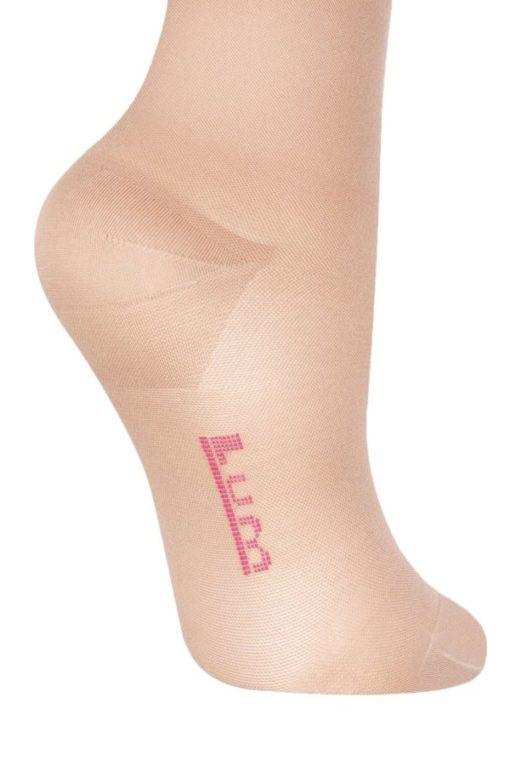 Чулки с простой резинкой на силиконовой основе IDEALISTA ID-300TW с закрытым носком транспарент полупрозрачные на широкое бедро