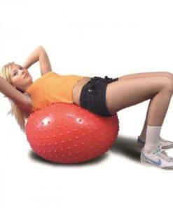 Гимнастический мяч (игольчатая поверхность) красный ОРТОСИЛА Арт. L 0565 b, диаметр 65 см