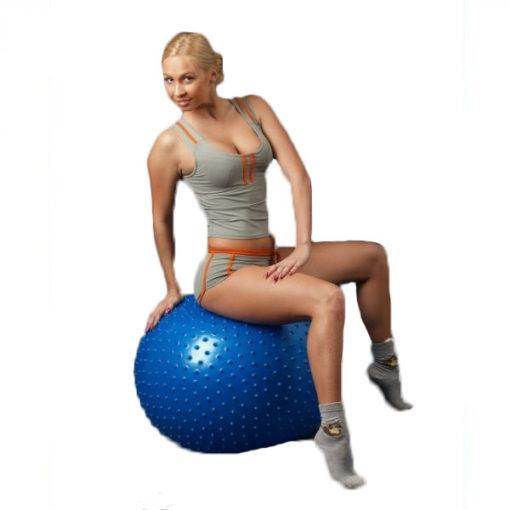 Мяч для фитнеса с шипами (Фитбол) синий ОРТОСИЛА Арт. L 0575 b, диаметр 75 см