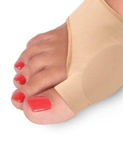 Протектор силиконовый для защиты большого пальца стопы на тканевой основе Lum609