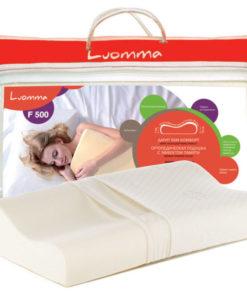 Подушка с эффектом памяти Арт. LumF-500. 30х48 см. Валики 7 и 10 см