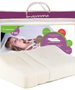 Подушка с эффектом памятии и выемкой под плечо Арт. LumF-502. 32х54 см. Валики 6 и 12 см