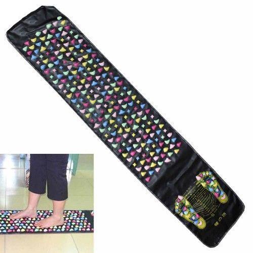 Массажный ортопедический коврик для ног с цветными камнями 1051 ДК