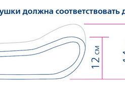 Подушка Ортопедическая для сна ORTO Арт. ПС 110