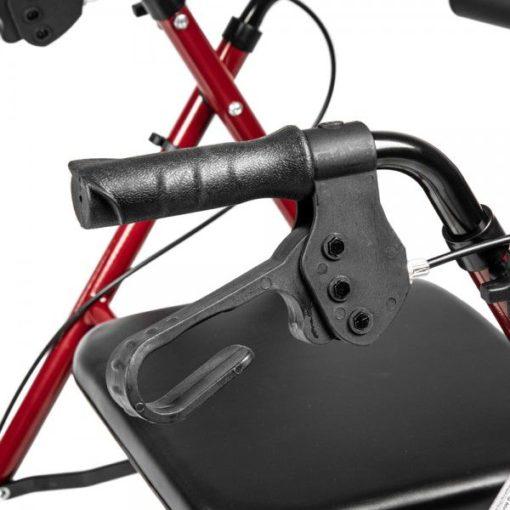 Ходунки-ролляторы на 4х колесах. Рама стальная, чёрные колёса, сумка для вещей ORTONICA XR 105