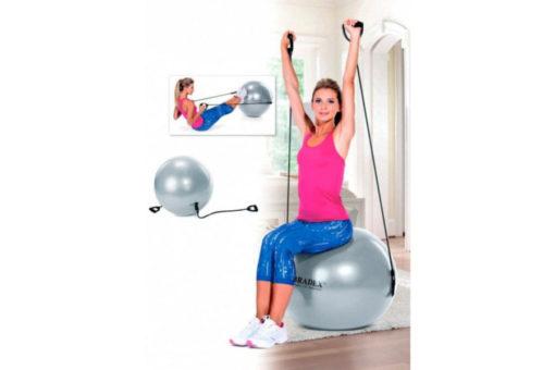 Мяч для фитнеса «ФИТБОЛ-65 с эспандерами» BRADEX SF 0216