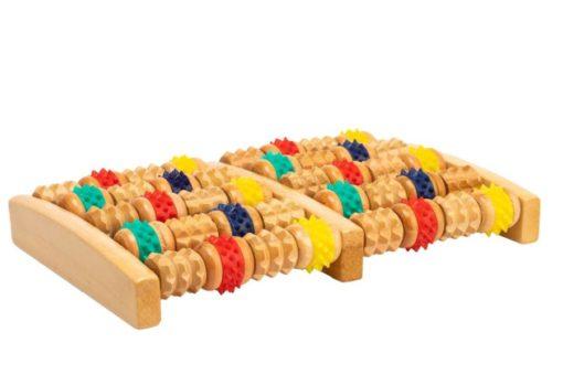 Массажер деревянный с резиновыми роликами BRADEX KZ 0484